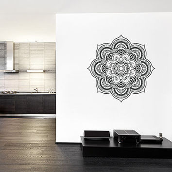 kik367 Wall Decal Sticker Room Decor Wall Art Mural mandala Buddhist meditation Hindu Hinduism India Ornament living room