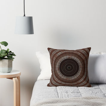'Wood Rings' Throw Pillow by Christy Leigh