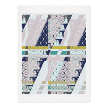 Bel Lefosse Design Stripes And Diamonds Art Print