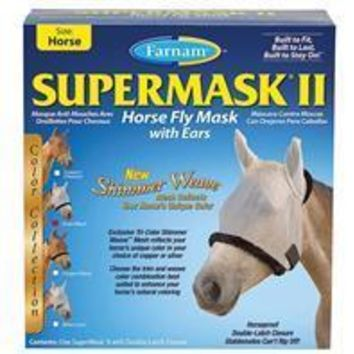 Farnam Companies Inc - Supermask Ii Colored Horse Fly Mask With Ears