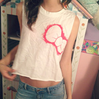 Hello Punk Kitty Bow crop top