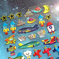 air travel sticker airplane hot air balloon airplane jet motorbike transportation theme traveller epoxy sticker boys sticker kids cartoon