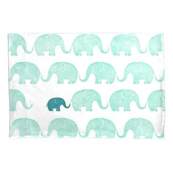 Baby Elephant Single Pillowcase, Standard Size Pillowcase