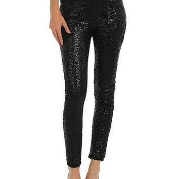 Sparkle for Me Black Sequin Pants