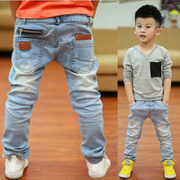 Free shipping, New Year,  spring and autumn new children's jeans boys wild baby kids fashion jeans children jeans