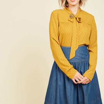 Bakery Browsing Denim Skirt | Mod Retro Vintage Skirts | ModCloth.com