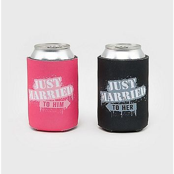 Just Married Can Cooler - Spencer's