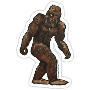 'Bigfoot Painting' Sticker by Noble Bison