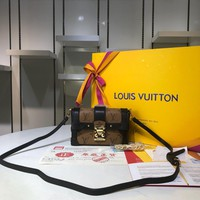 LV Louis Vuitton WOMEN'S MONOGRAM LEATHER INCLINED SHOULDER BAG