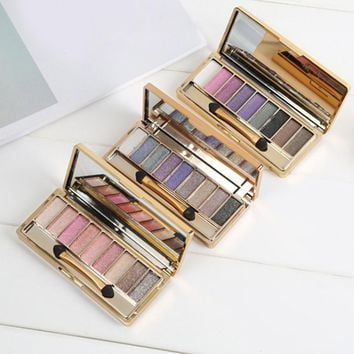Make Up Eyeshadow Palette 1 PC Glitter Eyeshadow Palette Makeup Eye Shadow 9 colors