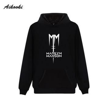 Marilyn Manson Hoodie Sweatshirt Rock Winter Punk High Quality Pullover Hip Pop Boys Oversize Hoodie Men Fashion Clothes