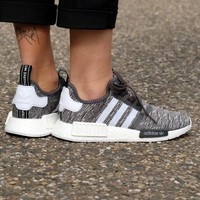 Best Online Sale Adidas WMNS NMD R1 Utility Black/Footwear White/Medium Grey Boost Sport Running Shoes Classic Casual Shoes Sneakers