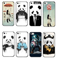 Super Cute and Funny Panda Case For Apple iPhone 4 4S 4G 5 5S 5G