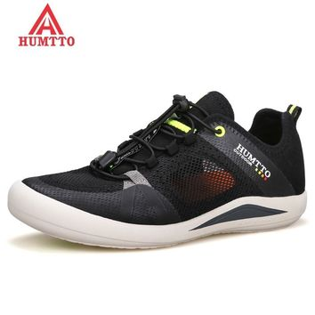 HUMTTO Brand Men Mountain Hiking Shoes Summer Breathable Mesh Outdoor Trekking Shoes Man Climbing & Fishing Non-slip Sneakers