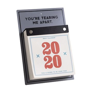 You're Tearing Me Apart 2020 Daily Desk Calendar