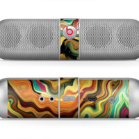 The Swirly Abstract Golden Surface Skin for the Beats by Dre Pill Bluetooth Speaker