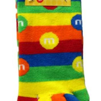 M&M M&M's Stripe Youth Knee-High Toe Socks - M&M's - | TV Store Online