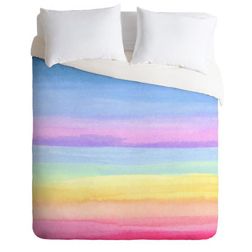 Joy Laforme Rainbow Ombre Duvet Cover