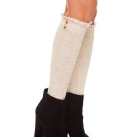 Jonnie Knee High Socks - Ivory