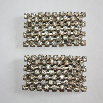 Vintage Rhinestone Shoe Clips 1950s Shoe Accessory