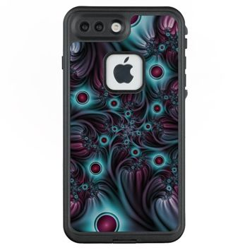 Into the Depth Blue Pink Abstract Fractal Art LifeProof® FRĒ® iPhone 7 Plus Case