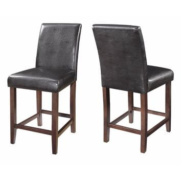 Mid-Back Contemporary Counter Height Stool,Set of 2