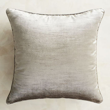 Luxe Velvet Striped Silver Pillow
