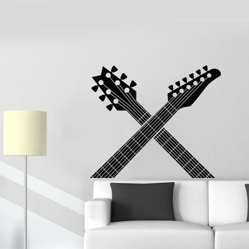 Vinyl Wall Decal Guitar Necks Music Musical Instruments Room Decor Stickers Mural Unique Gift (ig5119)