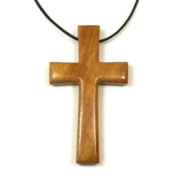 Large Mens Jewelry Cross, African Teak Cross Necklace, Mens Wooden Cross Necklace, Jewelry for Men, Men's Pendant, Teak Wood Cross Pendant