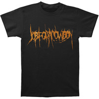 Job For A Cowboy Men's  Orange Logo T-shirt Black Rockabilia