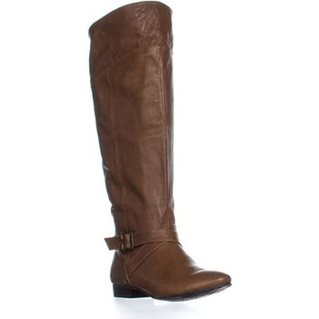 Chinese Laundry Spring Street Buckle Boots, Cognac, 6.5 US