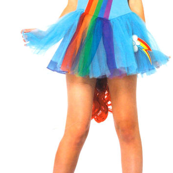 Leg Avenue My Little Pony Rainbow Dash Large Sexy Halloween Costume Dress Wig