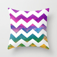 Lucky Chevron Throw Pillow by Beth - Paper Angels Photography | Society6