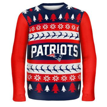 Chenier New England Patriots - One Too Many Ugly Christmas Sweater