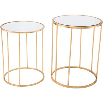 Gold Finita Nesting Round Tables (Set of 2)