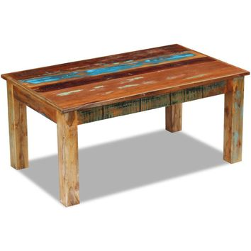 "Coffee Table Solid Reclaimed Wood 39.4"" x 23.6"" x 17.7"""