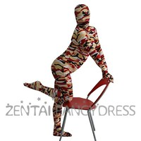 Full Body Multicolor Lycra Spandex Back Zipper Camouflage Zentai Fancy Dress Suit - $34.99