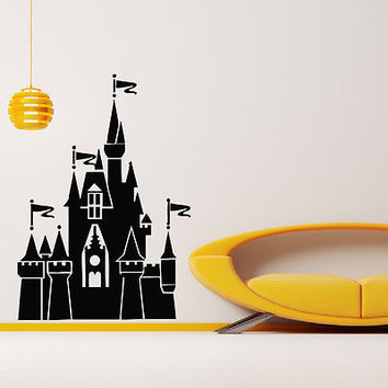 WALL DECAL VINYL STICKER CASTLE PALACE DECOR SB565
