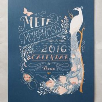 Lisa Perrin Metamorphosis 2016 Calendar in Blue Motif Size: One Size House & Home
