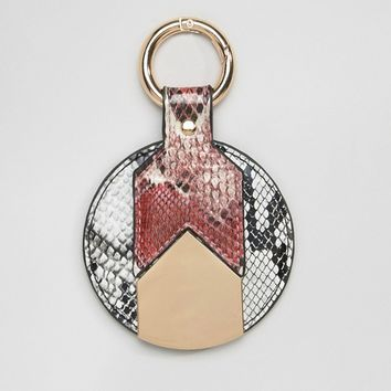 ASOS Contrast Snake Mirror Key Ring at asos.com