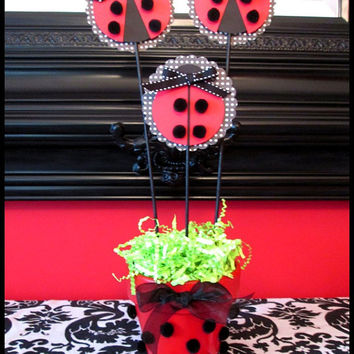 Ladybug Party Decorations Set of 3