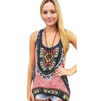 New Fashion Blusas Femininas Women Tank Tops Boho Print Blouses Shirt Sleeveless Crop Tops Casual Women Tops1STL SN9