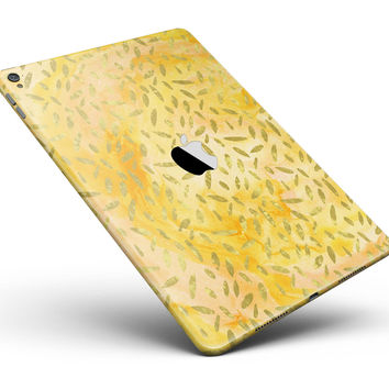 "The Grungy Yellow Watercolor Under a Microscope Full Body Skin for the iPad Pro (12.9"" or 9.7"" available)"