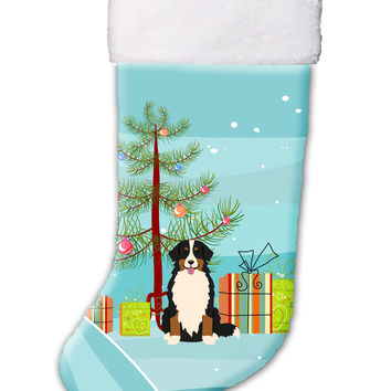 Merry Christmas Tree Bernese Mountain Dog Christmas Stocking BB4161CS