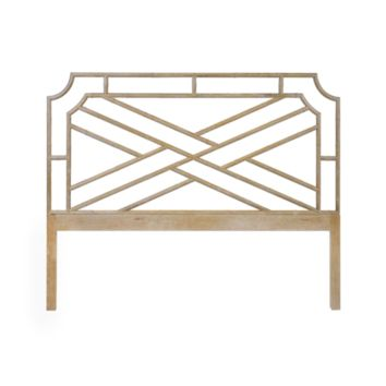 Worlds Away Delphine Headboard in Cerused Oak