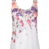 Floral Lace Back Tank