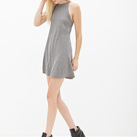 FOREVER 21 Heathered Knit Dress Heather Grey Large