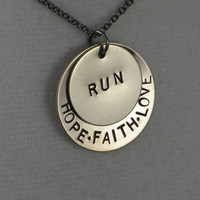 Hope Faith Love RUN Necklace Running Jewelry by TheRunHome