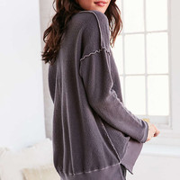 Truly Madly Deeply V-Neck Pullover Sweatshirt - Urban Outfitters