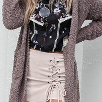 All Intertwined Sand Lace Up Skort